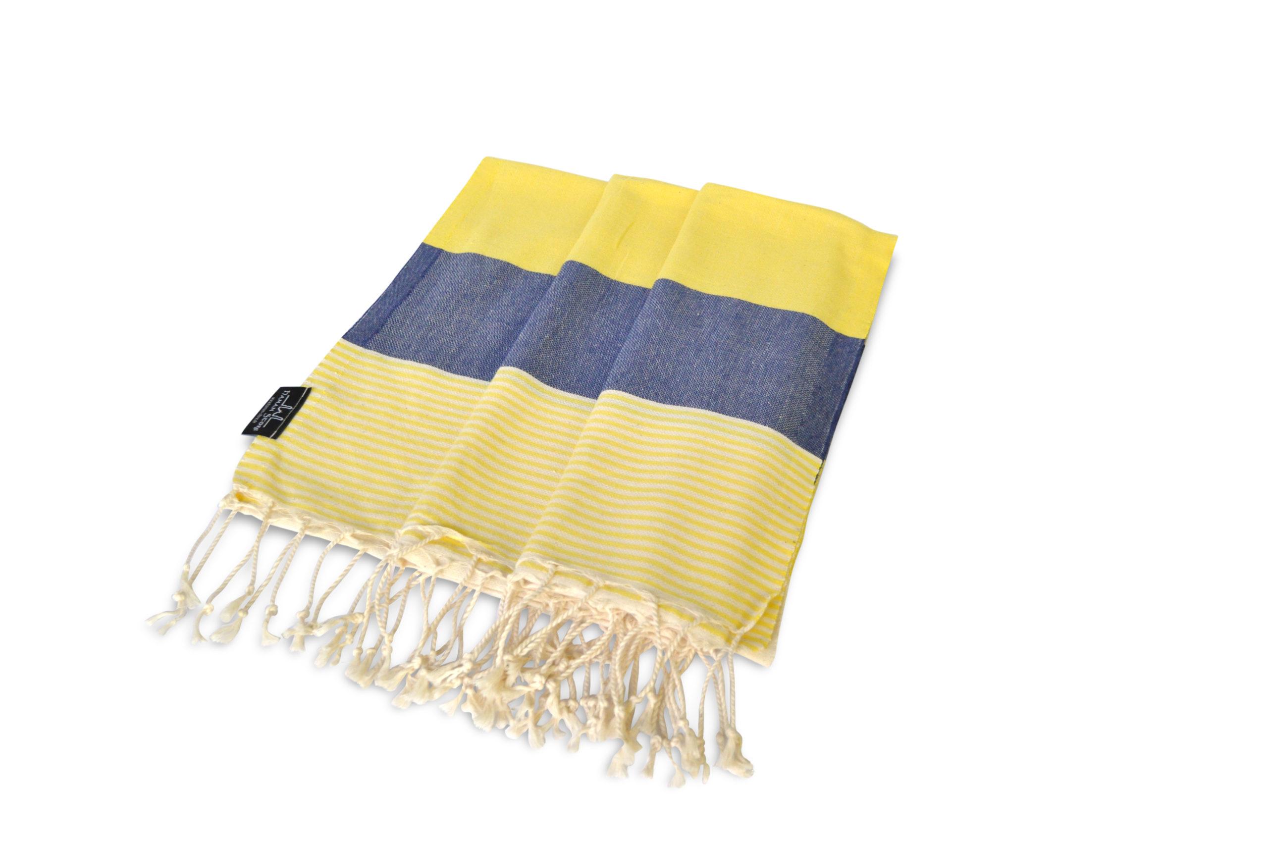 Hamamtuch gelb-blau